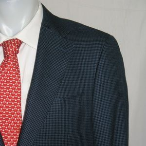 Canali 1934 Two Button Silk Blend Blazer 46L